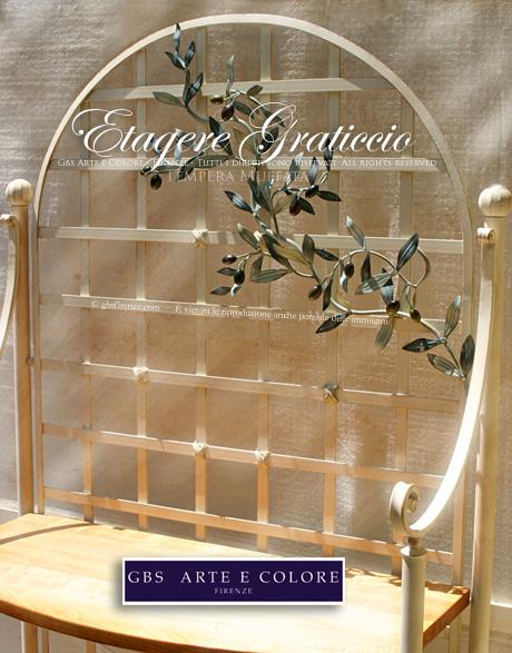 Etagere in ferro battuto librerie mensole scaffali for Mensole in ferro battuto