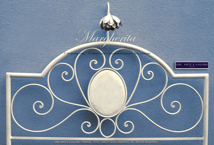 Letto in ferro battuto Margherita