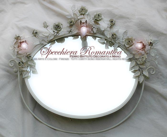 Specchi Decorati Per Bagno.Specchiere In Ferro Battuto
