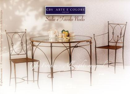 Sedie in ferro battuto sedie e tavoli originali gbs il ferro battuto a firenze dal 1925 - Sedie per tavolo cristallo ...