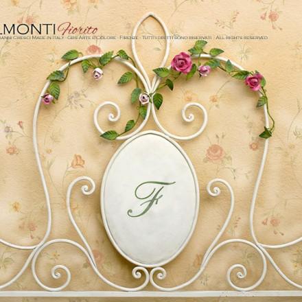 Letto Matrimoniale in ferro battuto. Bondelmonti Fiorito - Rose