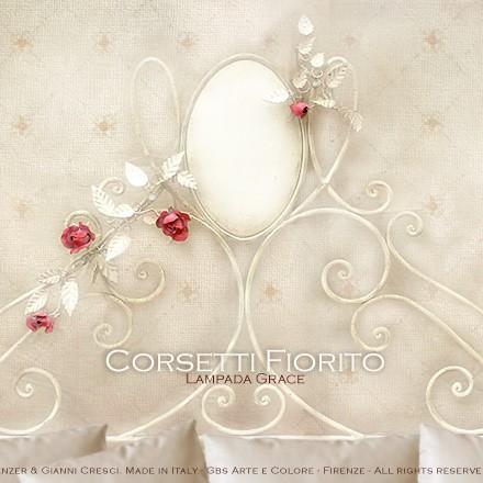 Letto Corsetti Fiorito - Ferro battuto - Con Rose