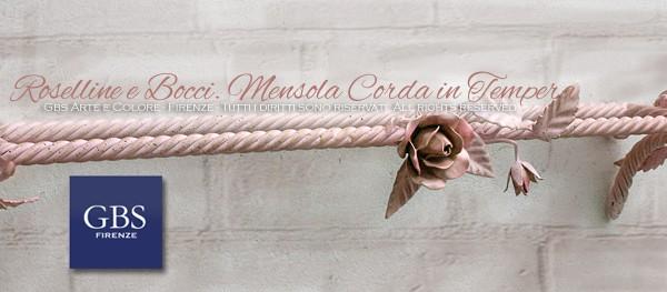 Mensolina rosa per il bagno in ferro battuto - Accessori Bagno, GBS Chic, lo stile sabby di GBS