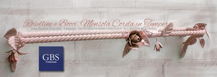 Mensolinma rosa per il bagno in ferro battuto - Accessori Bagno, GBS Chic, lo stile sabby di GBS