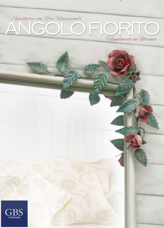 Specchiera rose e bocci - Angolo Fiorito - Camera da Letto