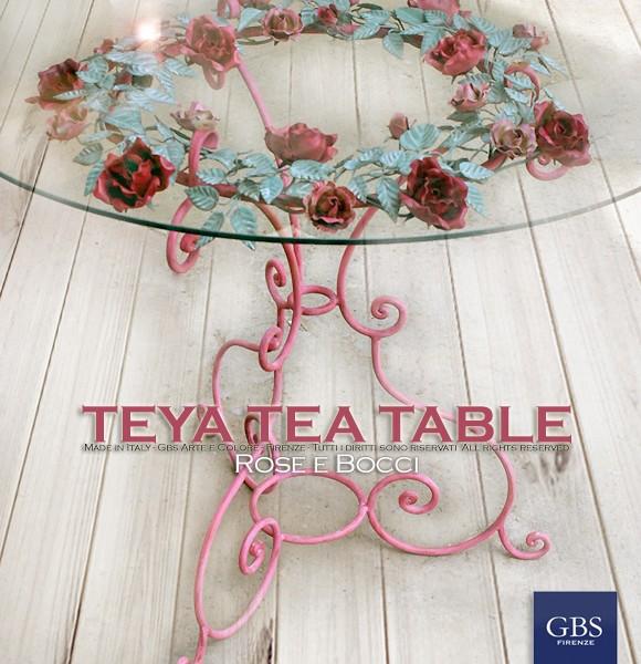Teya Tea Table - Tavolino per The. Ferro battuto in tempera