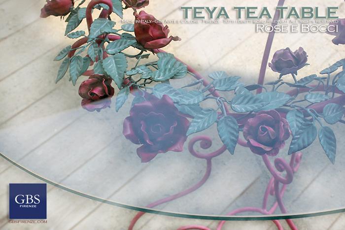 Teya Tea Table - Tavolino per Caffè. Ferro battuto - dettaglio