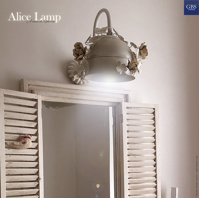 Alice Wall Lamp. Sconce. With climbing roses