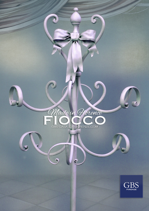 Fiocco e Nastri - Appendiabiti in ferro battuto. GBS Chic, lo shabby romantico di GBS. Made in Florence