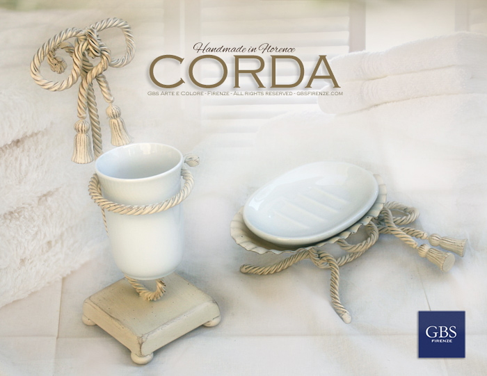 Bagno corda accessori gbs firenze casa for Accessori bagno in ceramica