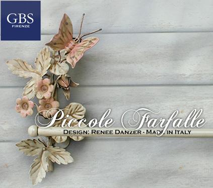 Piccole Farfalle Bagno Porta Asciugamani muro