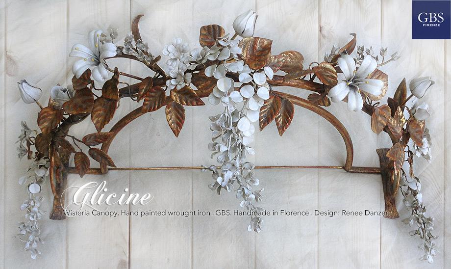 Glicine, Ciel de Lit Baldacchino. Wisteria Bed Canopy