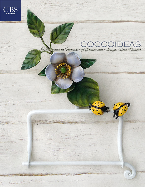 Coccoideas Bathroom Collection. Design Renee Danzer. Wrought iron