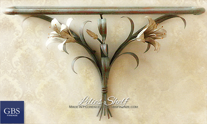 Lilies shelf. Custom made furniture: colors and mesaures.