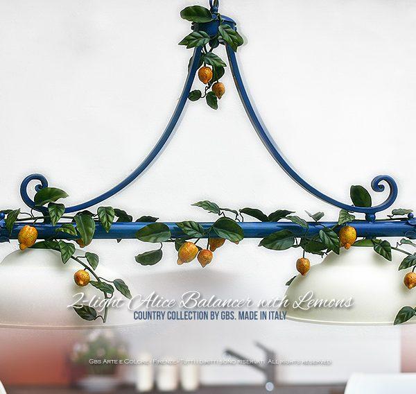 Illuminazione Cucina Country Chic. Sospensione Alice a due luci
