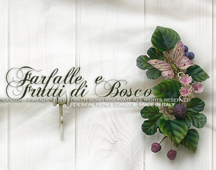 Cucina Country Chic Barra porta mestoli accessori Farfalla Bosco