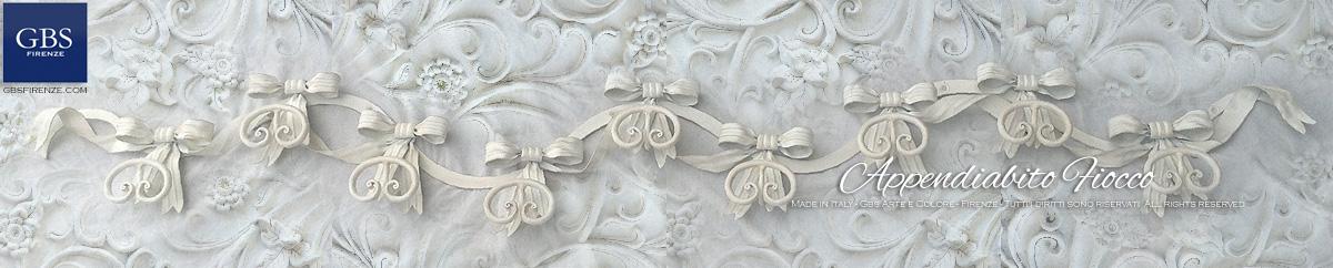Camera romantica. Appendiabiti da muro, collezione Fiocco. Su misura e con colori personalizzati