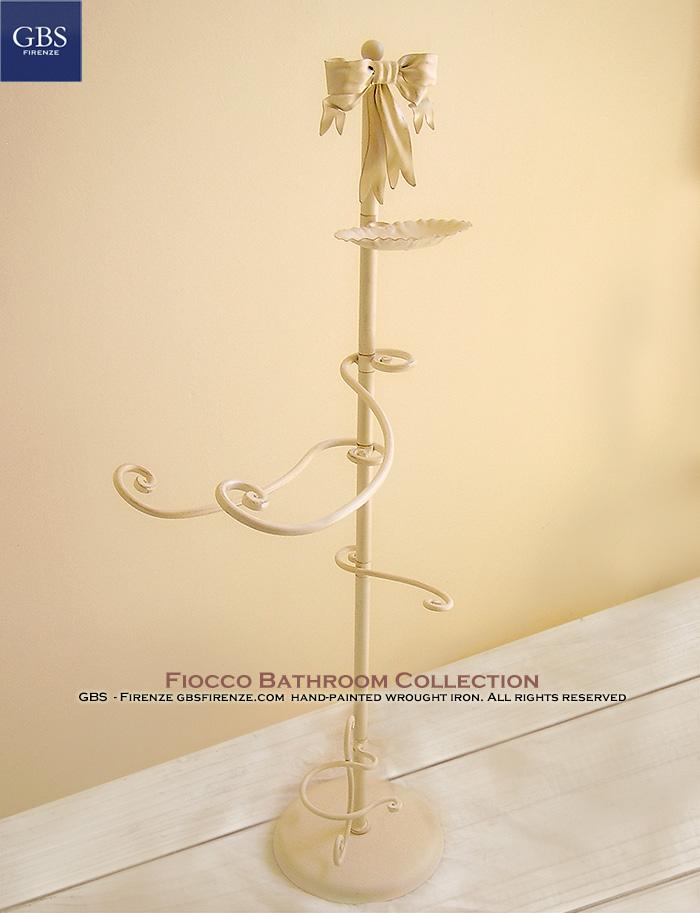 Bagno Fiocco. Ferro Battuto. GBS Firenze. Bathroom Bow. Wroughtiron iron. Made in Italy