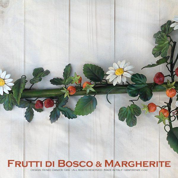 Frutti di Bosco & Margherite - Asta da Tenda. Collezione Country. Ferro battuto