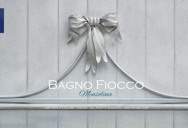 Mensola - Console da parete, collezione Fiocco per il bagno. Ferro battuto e decorato a mano.