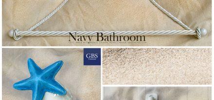Accessori per il bagno. Mare. Navy Bathroom.Conchiglia e Stella Marina