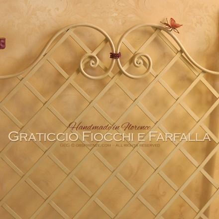Cameretta Fiocco. Letto graticcio con Farfalla. Su misura. Letto singolo