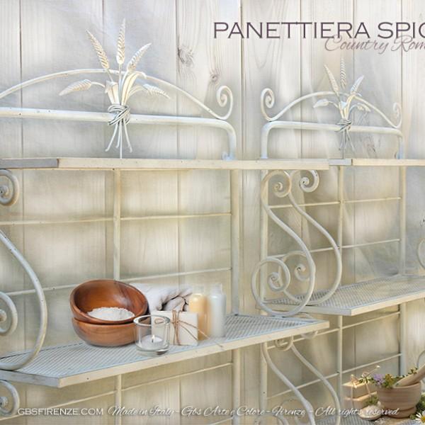 Panettiera Etagere con Spighe in ferro battuto. Su misura. Country Chic per la cucina e la camera