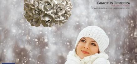 Sospensione Luce - Rose - Grace - Bonbon Ferro battuto. Design di Gianni Cresci