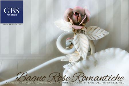 Dettaglio Rose e Foglie porta sapone conchiglia in ferro battuto