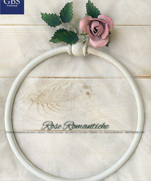 Portasciugamani ad anello. Versione da muro. Rose Romantiche