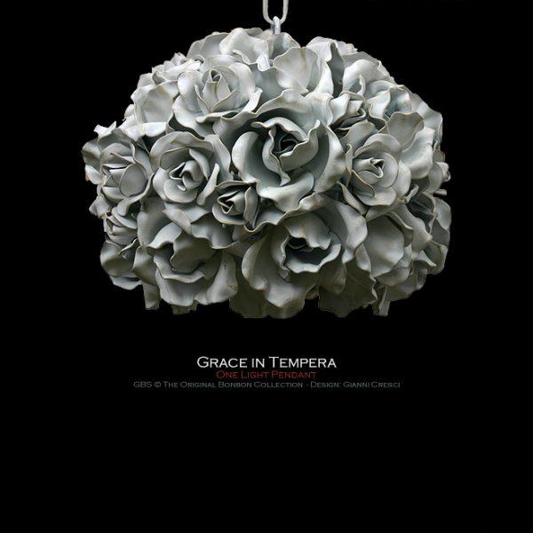 Sospensione Lampada Grece. 1 Luce. Rose. Design: Gianni Cresci per GBS. Made in Italy