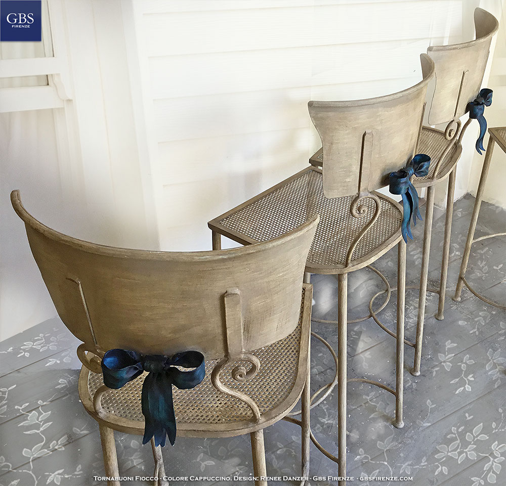 Tornabuoni Bow. Bar stool chair. Wrought iron.