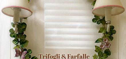Trifogli & Farfalle. Specchiera con due Applique. Su misura.