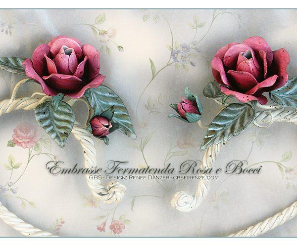 Curtain Holdbacks. Wall Hooks. Roses and Rosebuds