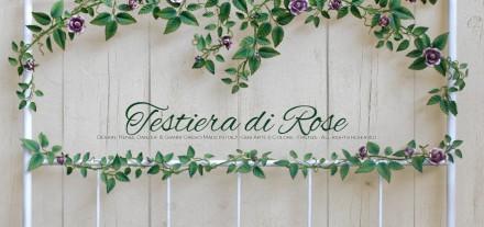 Testiera di Rose. Camera romantica. Testata Alta