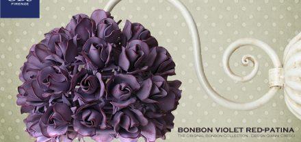 Bonbon violet red-patina. 1 Light wall lamp