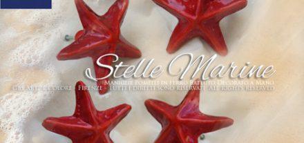 Arredamento Navy, marino e romantico. Maniglie e pomelli in ferro battuto. Stella marina.
