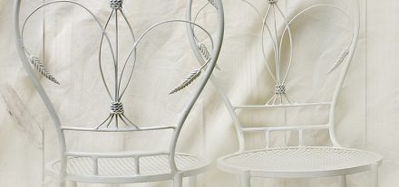 Sedia Spighe. Ferro battuto e decorato a mano - All rights reserved - Made in Florence